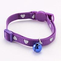 NMハート柄猫首輪 紫
