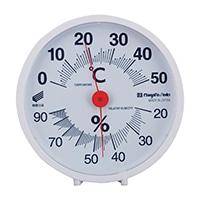 温湿度計・快段目盛 丸型白 SK−1711KD