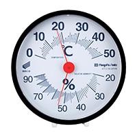 温湿度計・快段目盛 丸型黒 SK−1712KD