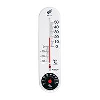 温湿度計・快段目盛 縦型白 SK−1721KD