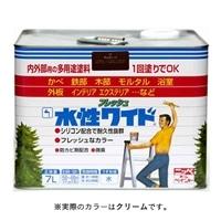ニッペ 多用途塗料 水性フレッシュワイド 7L クリーム
