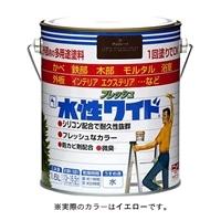ニッペ 多用途塗料 水性フレッシュワイド 1.6L イエロー