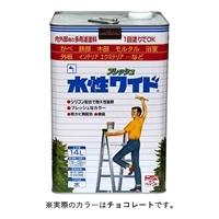 ニッペ 多用途塗料 水性フレッシュワイド 14L チョコレート