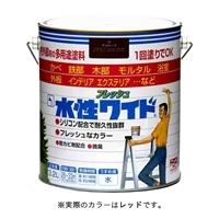 ニッペ 多用途塗料 水性フレッシュワイド 3.2L レッド
