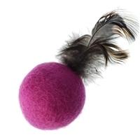 じゃれ猫 羽つき羊毛ボール