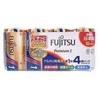 富士通 アルカリ乾電池 単1形 1.5V LR20 Premium S/4個パック