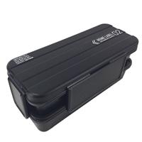 メンズランチボックス2段 ブラック D436