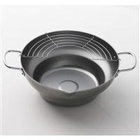 鉄製段付き天ぷら鍋   28cm H8825