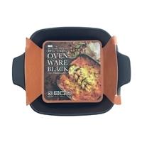 オーブンウェア ブラック 深型プレート(正方形) L−1907