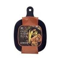 オーブンウェア ブラック 取っ手付プレート(角型) L−1911