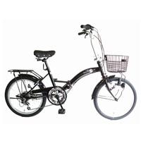 【ネット限定】【自転車】【全国配送】折りたたみ自転車 レトロDX 20インチ ブラック【別送品】
