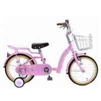 【ネット限定】【自転車】【全国配送】補助輪付き子供用自転車 ジェニファー 16インチ ピンク【別送品】