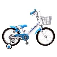 【ネット限定】【自転車】【全国配送】補助輪付き子供用自転車 ロサリオ 18インチ ホワイト/ブルー【別送品】
