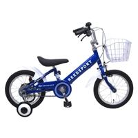 【ネット限定】【自転車】【全国配送】補助輪付き子供用自転車 リーズポート 14インチ ブルー【別送品】