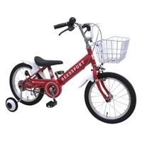 【ネット限定】【自転車】【全国配送】補助輪付き子供用自転車 リーズポート 16インチ レッド【別送品】