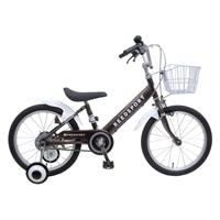 【ネット限定】【自転車】【全国配送】補助輪付き子供用自転車 リーズポート 18インチ ブラウン【別送品】