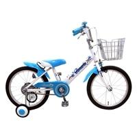 【ネット限定】【自転車】【全国配送】補助輪付き子供用自転車 ロサリオ 16インチ ホワイト/ブルー【別送品】