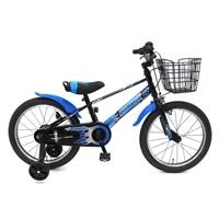 【ネット限定】【自転車】【全国配送】補助輪付き子供用自転車 ビスマーク 16インチ ブラックブルー【別送品】