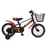 【ネット限定】【自転車】【全国配送】補助輪付き子供用自転車 ビスマーク 16インチ ブラックレッド【別送品】