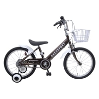 【ネット限定】【自転車】【全国配送】補助輪付き子供用自転車 リーズポート 14インチ ブラウン【別送品】