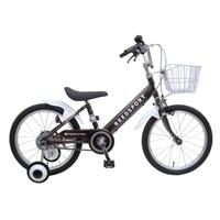 【ネット限定】【自転車】【全国配送】補助輪付き子供用自転車 リーズポート 16インチ ブラウン【別送品】