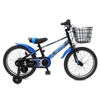 【ネット限定】【自転車】【全国配送】補助輪付き子供用自転車 ビスマーク 18インチ ブラックブルー【別送品】