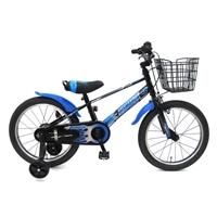 【ネット限定】【自転車】【全国配送】補助輪付き子供用自転車 ビスマーク 14インチ ブラックブルー【別送品】