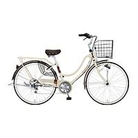 【自転車】【全国配送】《ホダカ》軽快フロートミックスX 外装6段 26インチ ベージュ【別送品】