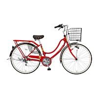 【自転車】【全国配送】《ホダカ》軽快フロートミックスX 外装6段 26インチ レッド【別送品】