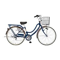 【自転車】【全国配送】《ホダカ》軽快フロートミックスX 外装6段 26インチ Dブルー【別送品】