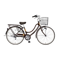 【自転車】【全国配送】《ホダカ》軽快フロートミックスX 外装6段 26インチ Dブラウン【別送品】