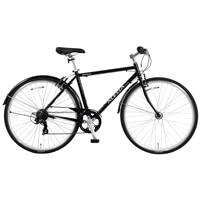【自転車】【全国配送】《ホダカ》アレッサクロスK 外装7段 700C ブラック【別送品】