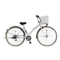 【自転車】《ホダカ》マルキン Runesic ルネシック 27型シティ車 外装6段 オートライト ホワイト