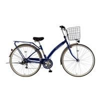 【自転車】《ホダカ》マルキン Runesic ルネシック 27型シティ車 外装6段 オートライト ダークブルー