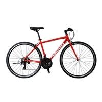 【自転車】《ホダカ》サードバイクス 700×28Cクロスバイク フェスクロス 外装21段 レッド
