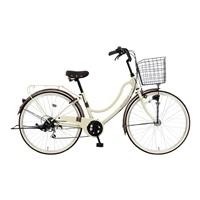 【自転車】《マルキン》軽快車 FLOATMIX フロートミックスB 26インチ 外装6段 オートライト ベージュ