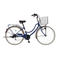 【自転車】《マルキン》軽快車 FLOATMIX フロートミックスB 26インチ 外装6段 オートライト ダークブルー