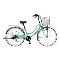【自転車】《マルキン》軽快車 FLOATMIX フロートミックスB 26インチ 外装6段 オートライト ライトグリーン