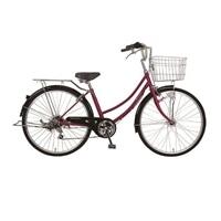 【自転車】《ホダカ》26型軽快車 リブレットホーム 外装6段HD レッド