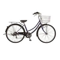 【自転車】《ホダカ》26型軽快車 リブレットホーム 外装6段HD ダークブルー