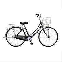 【自転車】《マルキン自転車》26型軽快車 フォンセ 内装3段 ブラック