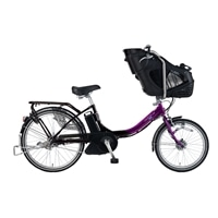 【数量限定】【自転車】【全国配送】《マルキン》同乗器付き電動自転車 デリシアデュオ ブラック/パープル【別送品】