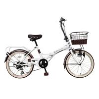 【自転車】【全国配送】≪ホダカ≫折畳み ルネシック 20インチ ホワイト【別送品】