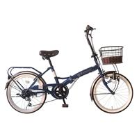【自転車】《ホダカ》ルネシック 外装6段 20インチ ダークブルー【別送品】