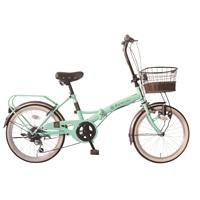 【自転車】【全国配送】≪ホダカ≫折畳み ルネシック 20インチ ライトグリーン【別送品】
