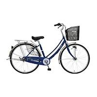 【自転車】【全国配送】軽快車 フォンセ-K 26インチ ダークブルー【別送品】
