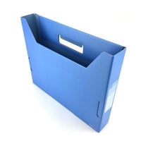 PLUS デジャヴ ボックスファイル スリム A4 スカイブルー