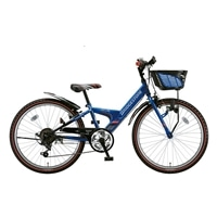 【自転車】【全国配送】《ブリヂストン》エクスプレスjr EX06 外装6段変速 20インチ ブルー&ブラック【別送品】