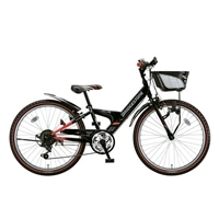 【自転車】【全国配送】エクスプレスjrEX06外装6段変速20インチブラック&レッド【別送品】