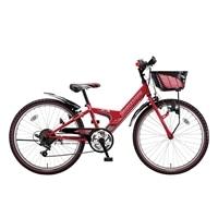 【自転車】【全国配送】エクスプレスjrEX06外装6段変速20インチレッド【別送品】